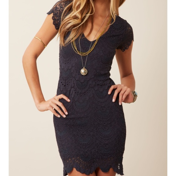 b284577c6e Nightcap Clothing Spanish Lace Cap Sleeve Dress